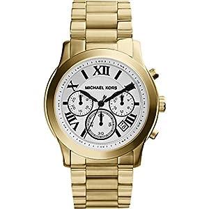 Michael Kors - Reloj de cuarzo para mujer, correa de acero inoxidable color dorado de Michael Kors