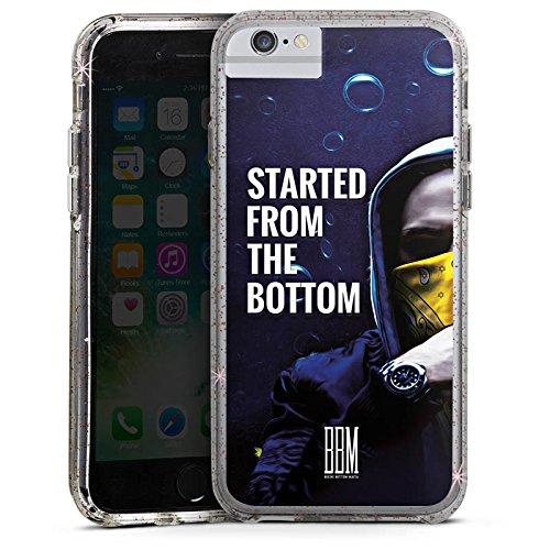 Apple iPhone 6s Bumper Hülle Bumper Case Glitzer Hülle Spongebozz Started From The Bottom Merchandise Bumper Case Glitzer rose gold