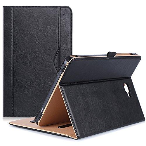 Tablet Stand Case (ProCase Samsung Galaxy Tab A 10.1 Hülle - Stand Folio Case Cover für Galaxy Tab Eine 10,1 Zoll Tablette SM-T580 T585, mit mehreren Betrachtungswinkeln, Dokumentenkarte Tasche -Schwarz)