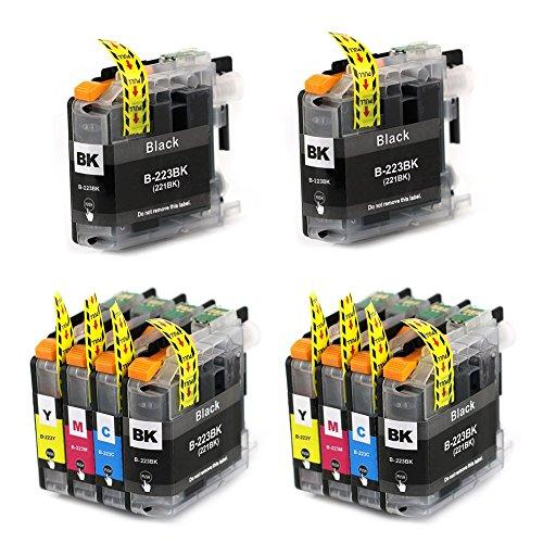 10x Cartuchos de impresora compatible para Brother lc223X L Brother LC 223x l para Brother MFC-J5320DW DCP-J4120DW MFC mfc-j480dw MFC-J5720DW MFC-J5625DW MFC-J4620DW MFC-J4420DW MFC mfc-j880dw MFC-J4625DW–DCP dcp-j562dw MFC-J5620DW MFC mfc-j680dw de j4425dw MFC de J5600Serie MFC de J1100Impresora de tinta cartuchos de tinta Brother MFC DCP Cartuchos de Tinta con Chip (4x Negro, 2x cian, 2x magenta, 2x Amarillo) 10ersetlc223