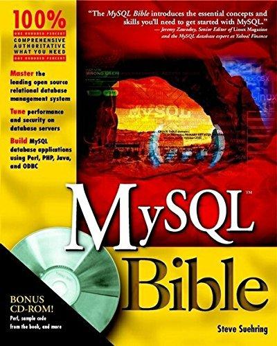 MySQL Bible by Steve Suehring (2002-07-05) par Steve Suehring