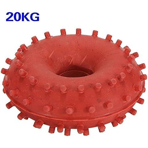 TOOGOO(R) 20kg Rubber Grip Gripper mano Anello Dispositivi Forza Formazione Power Fitness