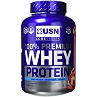USN 100% Premium Whey Protein Shake Powder - 2.28 kg, Strawberry Cream
