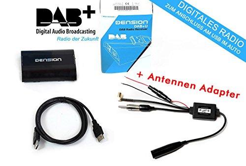 Dension DBU3GEN DAB+ nachrüstbarer USB Radio Empfänger +Zemex Antennenadapter