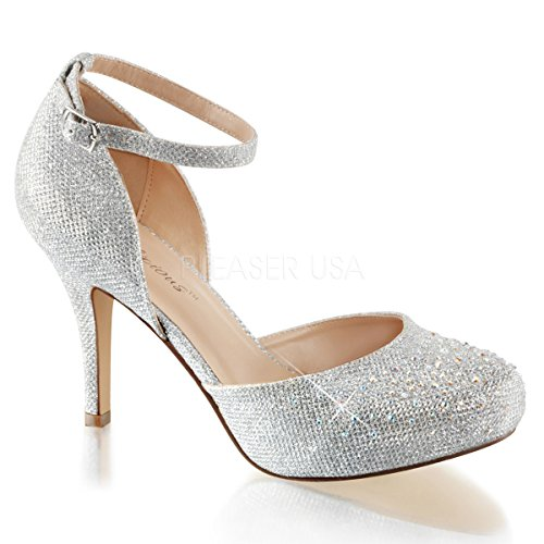 Higher-Heels Fabulicious Pumps High Heels Brautschuhe Covet-03 Silber Gr. 38,5/US 8