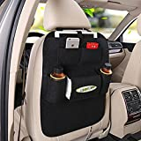 #8: Autofier Black Car Organizer Storage Bag Back Seat Box Organizer Holder Cover Backseat Pockets Books Phone Auto Stowing Tidying Accessories For Maruti Suzuki S Cross