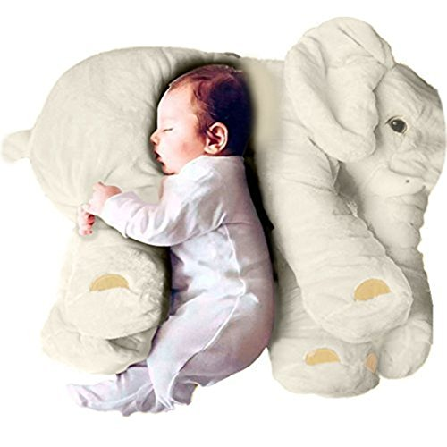 Woneart Soft Plush Elephant Baby Stuffed Animal Pillow Lumbar Cushion Cuddly Toy