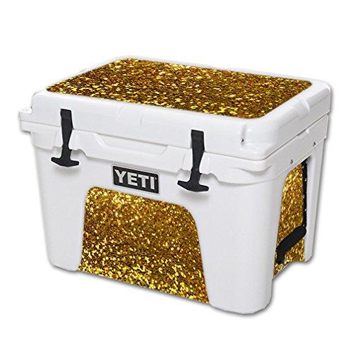 lie aus Vinyl für YETI Tundra 35 qt Cooler Wrap Cover Sticker Skins Gold Glitter ()