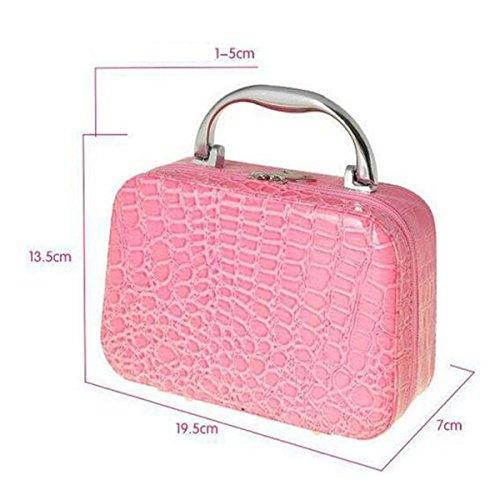 Jia Qing Borsa Cosmetica Universale Versatile Per Il Trasporto Portatile Borse Cosmetiche Universal Bag Di Grande Capacità Green
