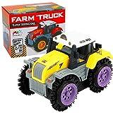 Amazon STY Early Education 2 6 Jahre alt Baby Spielzeugauto, elektrische Stunt Auto und Flip Spielzeugauto Kinder & Kinder Jungen und Mädchen, Geschenke gift (Gelb)