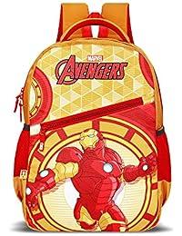 Priority Titan HD Avenger Ironman Yellow & Red Casual Backpack | Kid's School Bag
