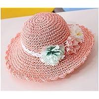 FERFERFERWON Berretto da Bambino Bel Fiore Cappello di Paglia per Bambine Cappello  per Protezione Solare Cappello 3b69780f9216
