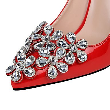 Moda Donna Sandali sexy donne tacchi tacchi / Punta / punta chiusa Stiletto Heel GlitterBlack spumanti / viola / rosso / White