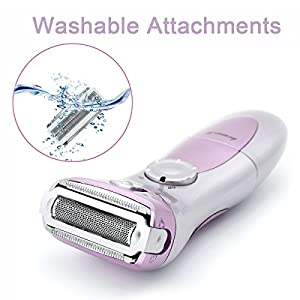 Women Electric Shaver, Rechargeable Waterproof Multifunction Wet and Dry Cordless Personal Facial Hair Razor Trimmer Remover Epilator for Legs Bikini Area Armpit Face Body Pink¡­