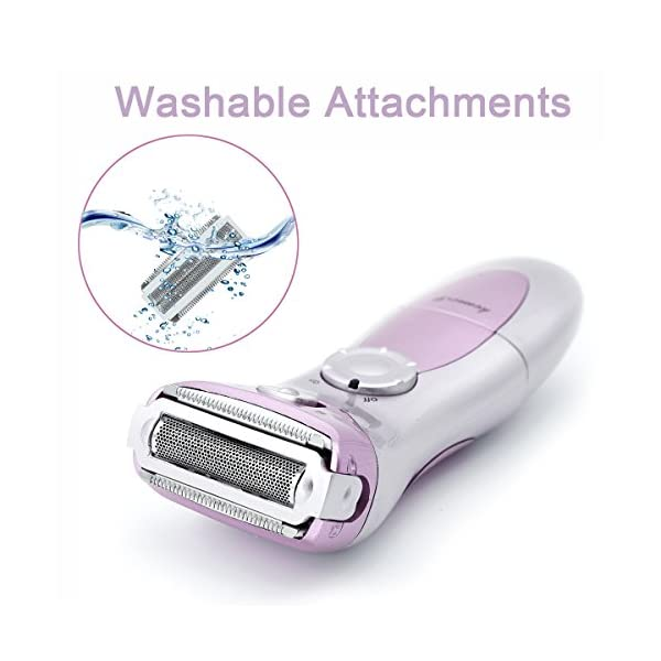 Women Electric Shaver T Antrix Rechargeable WaterproofMultifunction Wet And Dry Cordless Personal Facial Hair Razor Trimmer Remover Epilator For Legs Bikini Area Armpit Face Body Pink