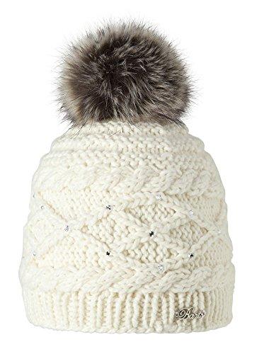 BARTS , Bonnet blanc ivoire à pompon fille modèle claire Barts Amazon.fr Vêtements et accessoires
