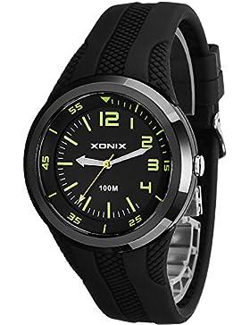Unisex XONIX 12-Stunden Ziffernblatt Armbanduhr WR100m nickelfrei, XDH11U/3