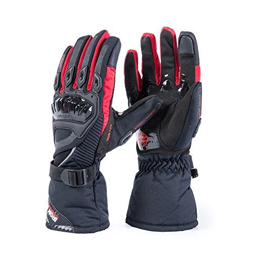 Guantes de motos Invierno cálido impermeable guantes de protección a prueba de...
