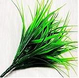 Webest Plastisches Grünes Gras der Künstlichen Anlage Grün Gras Künstliche Pflanzen für Kunststoff Blumen Haushalt Store Schreibtisch Rustikal Clover Pflanze
