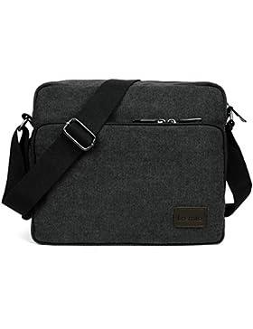 [Gesponsert]LOSMILE Umhängetasche Tasche Kuriertasche Umhängetasche Messenger Bag, Unisex Casual Vintage Stoff Rucksack.