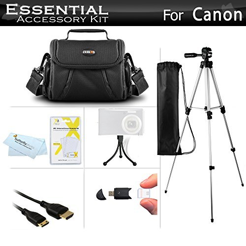 Starter Accessories Kit For Canon PowerShot SX40 HS G1 X SX530 HS SX540 HS SX50 HS SX60HS SX60 HS Powershot G15 G16 G3 X Digital Camera Includes Carrying Case + 50 Tripod w/ Case + More  available at amazon for Rs.3899