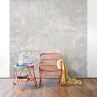 Apalis non-woven wallpaper with shabby concrete look - photo wallpaper square size, grey, 105628, grey, 288 x 288 cm