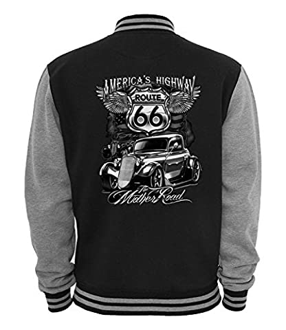 Ethno Designs The Mother Road - Hot Rod College Jacke