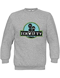 Schwifty Its Time To Get Schwifty Rick & Morty Jurassic Park Inspired Fun Sudadera Unisex