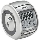 Philips AJ3700/12 Radiowecker mit Zeitprojektion (LCD-Display, Sleep-Timer, Alarmwiederholung) silber
