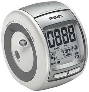 Philips aj3700 radio r veil avec tuner fm projection de l 39 heure au plafond grand cran lcd - Radio reveil projection heure plafond ...