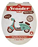 "Wenko ""Vintage Scooter"" Toilet Seat, Multi-Colour"