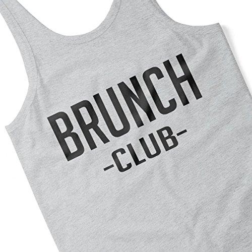 Brunch Club Bold Black Women's Vest Heather Grey