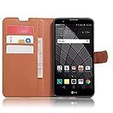 SMTR LG Stylus 2 Wallet Tasche Hülle - Ledertasche im