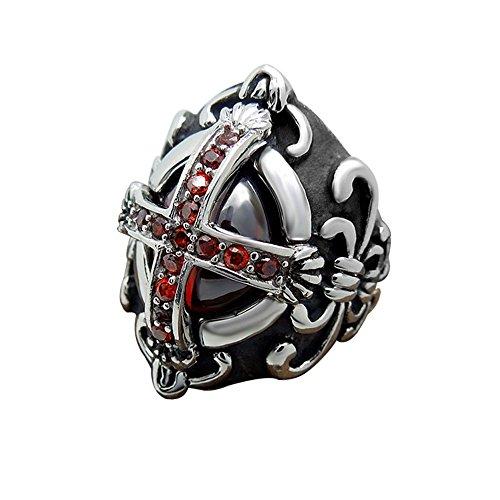 retro-gothique-europeen-acier-au-titane-strass-rouge-motif-de-croix-pour-bal-costume-hommes-bague-52