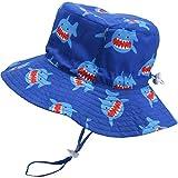 Sombrero de Verano para bebé Sombrero de Playa Ajustable Sombrero de niño al Aire Libre Sombrero de ala Ancha con protección Solar con Correa, 18.9 Pulgadas, 6-12 Meses (Estilo 1)