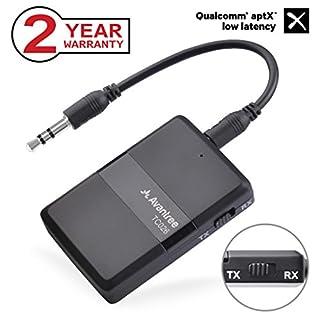 Avantree 2-in-1 aptX Low Latency Bluetooth V4.1 Audio Transmitter und Receiver, Sender und Empfänger, Wireless Adapter für TV, unterstützt Zwei Kopfhörer, Lautsprecher, Telefone - TC026