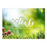 Große XXL Abschiedskarte mit Umschlag/A4/schade, dass DU gehst/Ruhestand/Kündigung/Neuer Job/Rente/Kollege/Kollegin