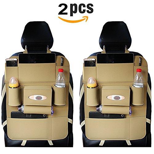 Preisvergleich Produktbild 2 Auto Organizer Kick-Teppiche, EasmaTM PU-Leder Wasserdicht Sitz Rückseite Displayschutzfolien