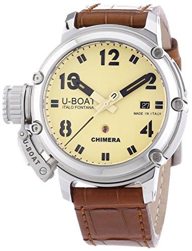 U-Boat  7227 - Reloj de automático para hombre, con correa de otros materiales, color marrón