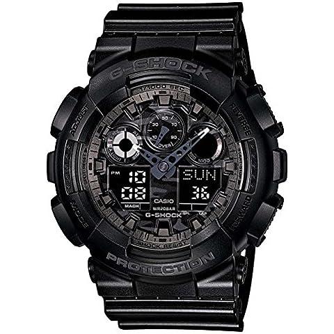 Casio G-Shock GA-100CF-1AER Orologio Analogico Digitale da Polso, Unisex, Resina, Nero