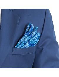 Vibhavari Men's Blue Pocket Square