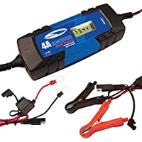 Defender 4 Amp Automatic Bike Car Van Battery Charger Smart Charger 6/12v TUV CE Approved preiswert