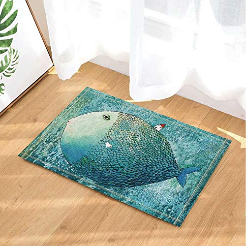 Creativa Casa exagerada peces mar Alfombras baño