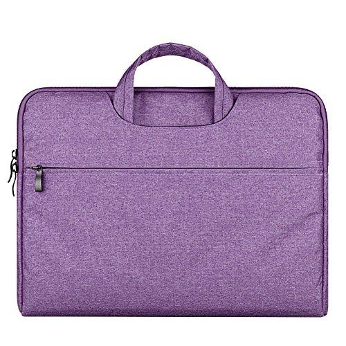 Laptoptasche, 15.6 Zoll Ultra Slim tragbares Wasserdicht Stoßfest Notebook Tasche Schutztasche Sleeve hülle für Apple MacBook Pro/Surface Laptop/Acer/ASUS/Dell/Lenovo/HP,Lila