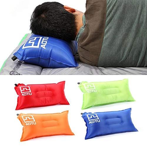 Stillar - bewegliche automatischen Schnell aufblasbare Kissen Outdoor-Camping-Zelt-Luftkissen Nacken Camping Schlafen Gang Blau