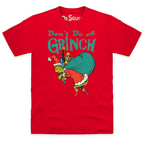 Official The Grinch Don't Be A Grinch T-Shirt, Herren Rot