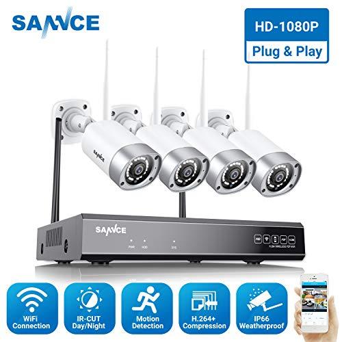 SANNCE Überwachungskamera Set, WLAN 8CH HD 1080P