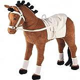 Voltigierpferd, Voltigiergurt, 100kg Tragkraft , 50cm Sitzh: Spielzeug Plüschpferd Voltigier Pferd Reitpferd Reittier mit Sound