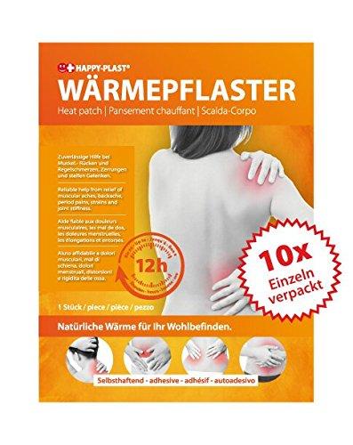 10x Wärmepflaster, Schmerzpflaster, bis zu 12 h Wärmdauer