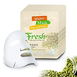 Generic 10pcs/Set Skin Care Treatment Thailand Mung-Bean Melanin Bleaching Face Mask